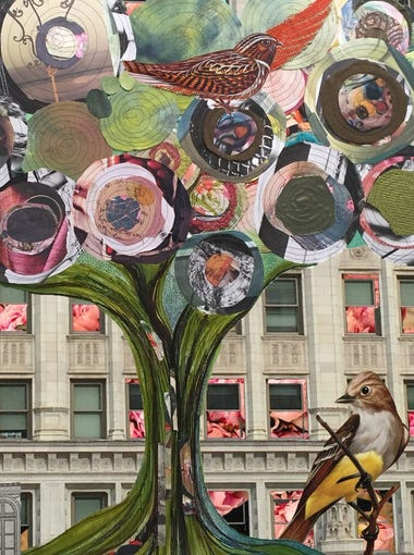 Illinois artist Angie Consalvo is a mixed-media collage
