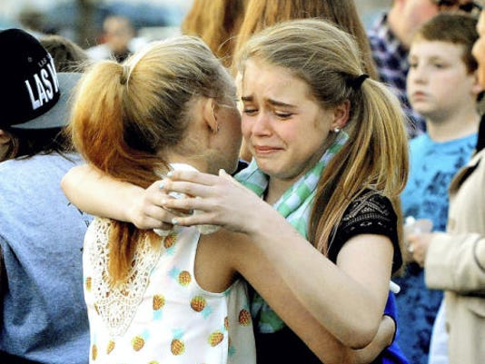 HomeNewsStory  Vigil after New Freedom shooting focuses on healing, community  By SEAN PHILIP COTTER  505-5437/@SPCotterYD Posted:   04/29/2015 11:16:24 PM EDT | Updated:   4 months ago 0 Comments  Southern Middle School students Bre Miller and Abigail Brenneman, left, both 13, hug during a prayer vigil at Freedom Green Park in New Freedom for the Southern Middle School students Bre Miller and Abigail Brenneman, left, both 13, hug during a prayer vigil at Freedom Green Park in New Freedom for the Liszewski family Wednesday, April 29, 2015. Earlier in the day Jennifer Liszewski shot her 11-year-old-son and herself. The girls are friends with the family's older son, 14. Both shooting victims are hospitalized. Bill Kalina - bkalina@yorkdispatch.com