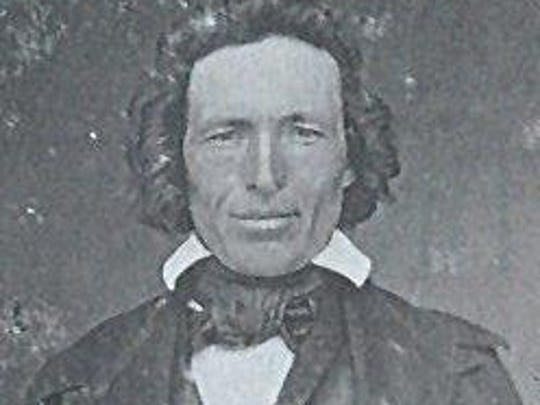 Adam Matheny was an early settler in the Wheatland area. He came to Oregon with his wife, Sarah Jane, after they eloped against her father's wishes.
