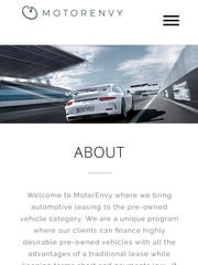 A screenshot of MotorEnvy's website. The owner wants