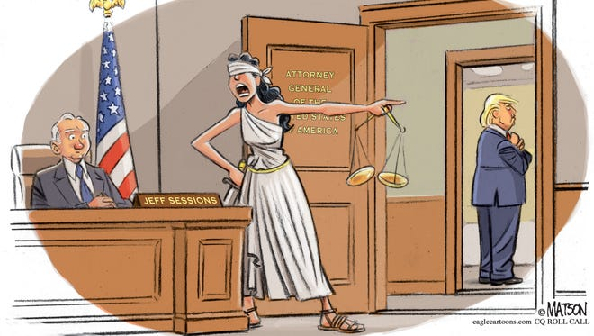 Unobstructed Lady Justice