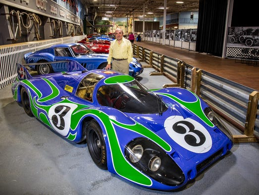"Dr Fred Simeone  stands in a line of famous LeMans racers. The 1970 Porsche 917LH finished 2nd place to another Porsche 917 in the 1970 LeMans race . This was Porsches first overall win at LeMans. The 24 hour race in France is considered by most to be the most important race for sports cars in the world. The car powered by a 4.5 liter ""flat"" 12 cylinder engine is known at the ""Psychedelic Porsche"" because of it's wild paint , set the fastest lap ever at LeMans that year. A record that still stands.  Photo/BOB CRAIG"
