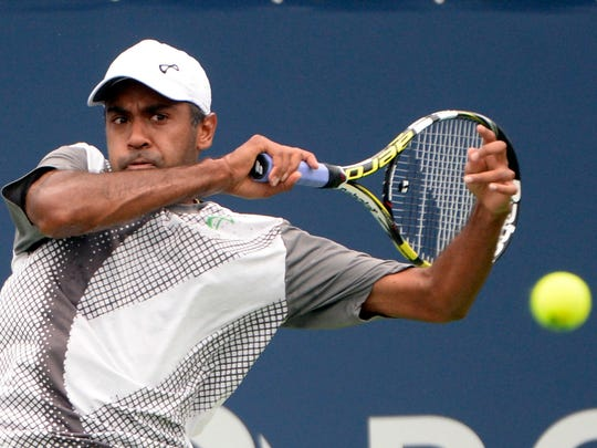FILE – Carmel's Rajeev Ram tallied a doubles win at Wimbledon on Friday. Here, he plays in the 2015 U.S. Open.