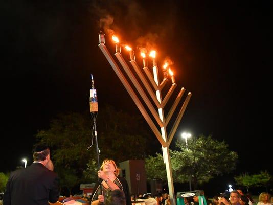 Hanukkah parade and celebration