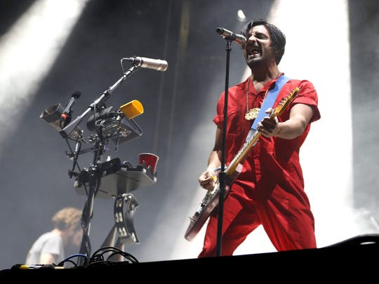 Young the Giant performs during the Innings Festival at Tempe Beach Park on March 23, 2018 in Tempe, Ariz.