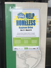 Collections for the Help for the Homeless hygiene drive