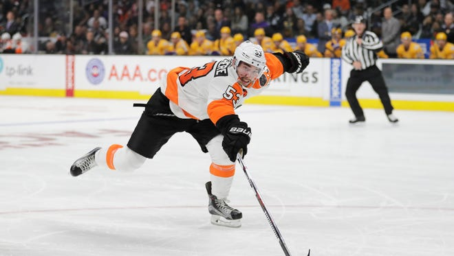 Philadelphia Flyers defenseman Shayne Gostisbehere escaped a scary situation after being cut in the face by a skate.