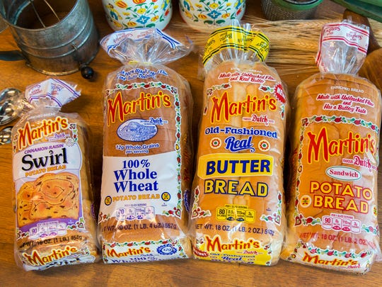 A variety of bread products from Martin's Famous Pastry Shoppe.
