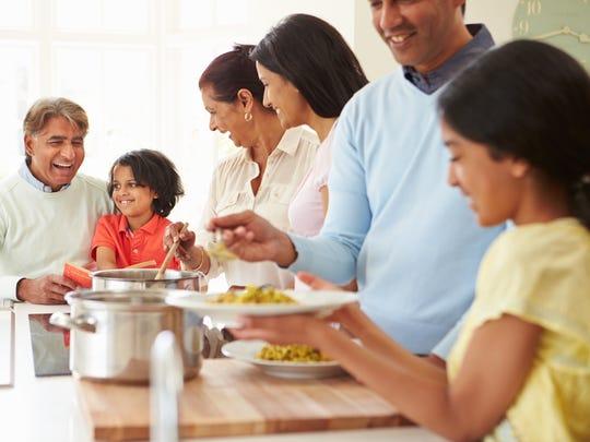Family dinners create important bonding opportunities.