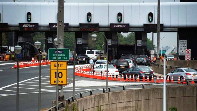 Lane closures at the George Washington Bridge in September of 2013.