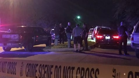Police investigate a shooting in Plano, Texas, on Sept. 10, 2017.