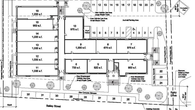 Broadway Properties 2.0 provided Mars Hill officials with architecture drawings showing the 1930's school re-imagined as an affordable housing complex