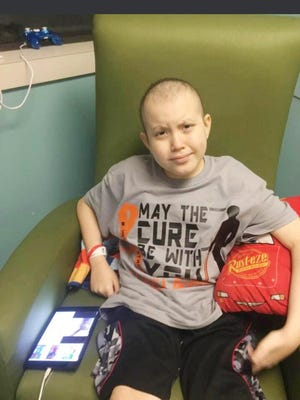 "Hector ""Tres"" Garcia III, a local 13 year-old boy fighting Lymphoblastic leukemia."