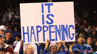 Cubs fans said it all after their team won Game 6 of the NLCS to advance to their first World Series since 1945.