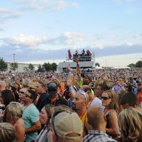 The 2015 FireFest crowd piles in as Clay Walker is about to go on stage.