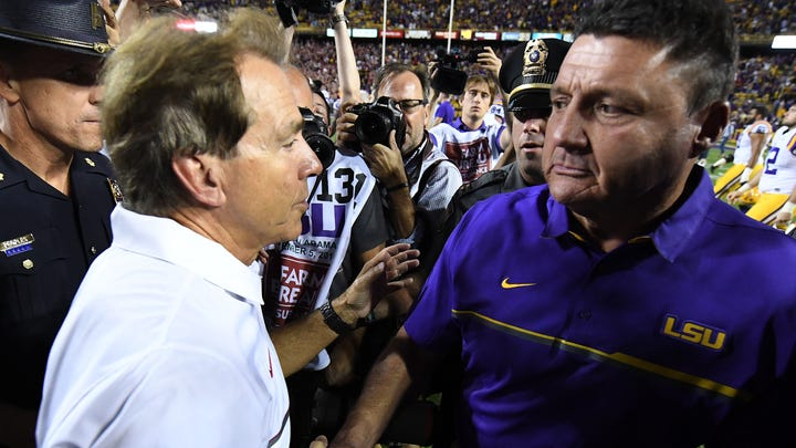 SEC coaches 1-14: Saban is still No. 1, Stoops and Orgeron move up charts to Nos. 4 and 6