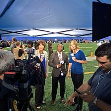 WUSA9 live on the field before the start of Thursday Night Football with Christine Brennan, Dave Owens and Kristen Berset.