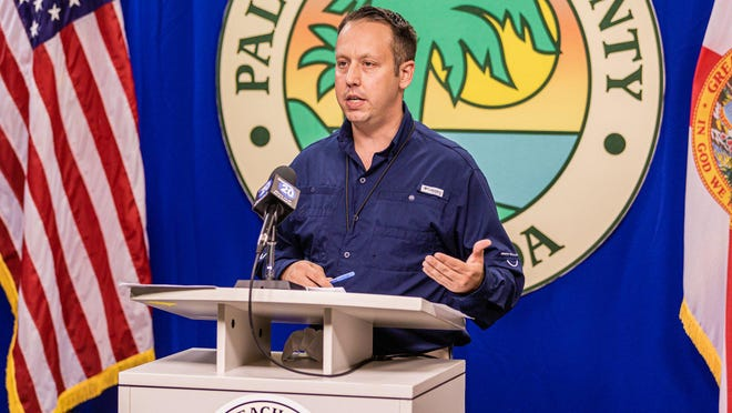 Palm Beach County Mayor Dave Kerner provided a COVID-19 and government status update at the Palm Beach County Emergency Operations Center in West Palm Beach, on Friday July 17, 2020. Kerner updated the media on local actions in Palm Beach County to fight the spread of coronavirus.