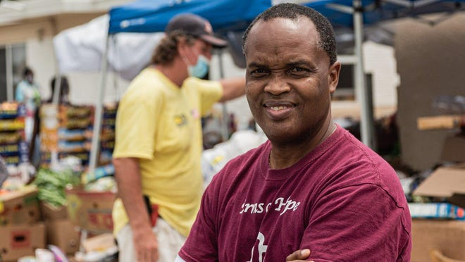 Patrick Livingston, owner of Above the Sea Restaurant on Wingfield Street in Lake Worth Beach, Tuesday, July 28, 2020. Livingston has been providing food and hot meals to community members since 2011.