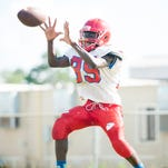 Football practice at Pine Forest High School in Pensacola, FL on Tuesday, August 16, 2016.