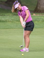 Lakeview junior Haley Lesoiw at the Gull Lake Invitational