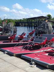 Airboats in Everglades City.