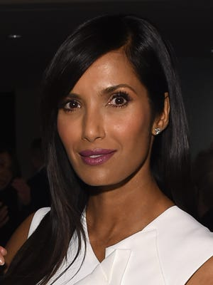 Padma Lakshmi offers advice on dinner parties, for example, don't experiment with new recipes. People are coming over for the company, not the food.