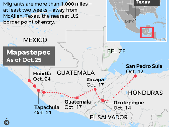 Migrant caravan: where are they, when will they get to the U.S. border