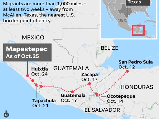 migrant caravan, Mexico