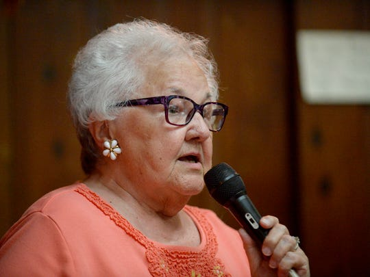 Newly elected Lebanon County Republican Committee vice chairman Betty Eiceman addresses the committee on Thursday, June 19, 2014.  Jeremy Long -- Lebanon Daily News