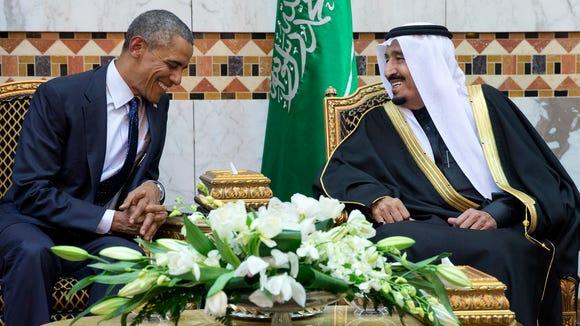 President Barack Obama meets new Saudi Arabian King