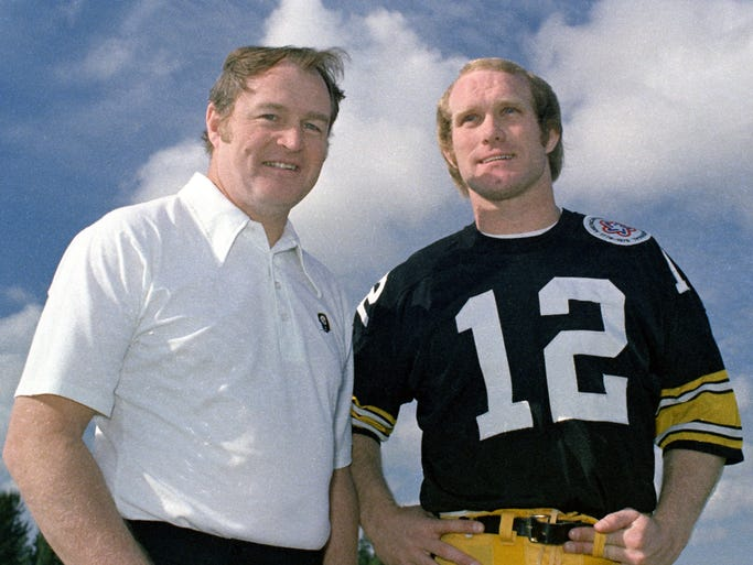 Hall of Fame coach Chuck Noll, who teamed with quarterback Terry Bradshaw to win four Super Bowl titles with the Pittsburgh Steelers, died June 13 at 82.