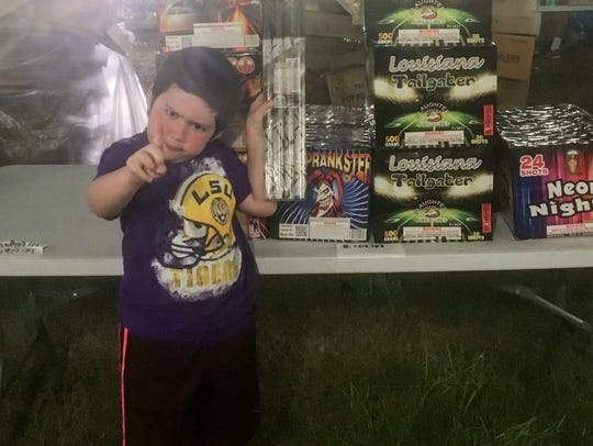My son, Dylan, was very impressed with the fireworks