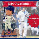 Kyle Schwarber scoreboard homer bobblehead released