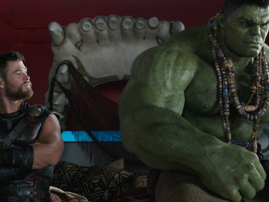 Thor (Chris Hemsworth) and Hulk (Mark Ruffalo) sort