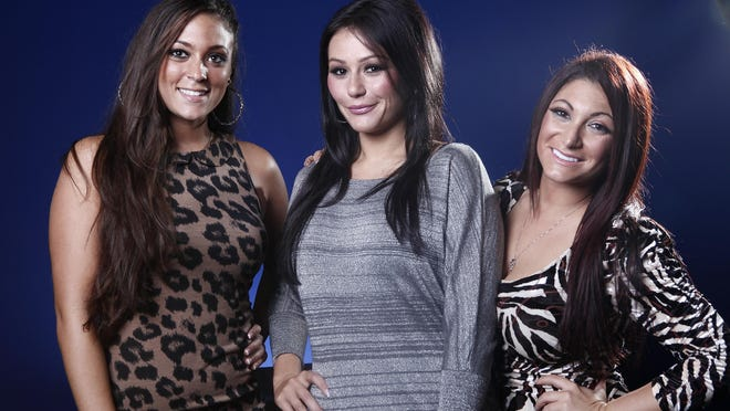 "MTV's ""Jersey Shore"" cast members (from left): Sammi ""Sweetheart"" Giancola, Jenni ""JWoww"" Farley and Deena Cortese in 2012. The widely popular reality show filmed in Seaside Heights gave new meaning to the term ""bennys."""