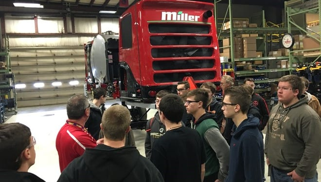 More than 70 students from Manitowoc County high schools boarded the Heavy Metal Bus last month to learn about the various career opportunities available in the manufacturing industry.