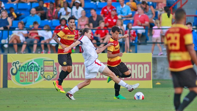 Justin Braun scored the Indy Eleven's lone goal in Saturday night's 2-1 loss at Fort Lauderdale.