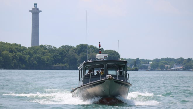 Researchers head out from Stone Lab on Gibraltar Island near Put-in-Bay to take water samples from Lake Erie following NOAA's harmful algal bloom forecast.