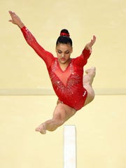 Lauren Hernandez of Old Bridge performs her routine on the balance beam during finals in the Rio 2016 Summer Olympic Games.