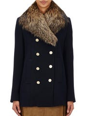Theory Belmore Fox-Fur-Collar Coat from Barneys New York, $1,195