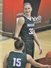 Mason senior Sammie Puisis, a Florida State commit, during a girls basketball scrimmage between Mason (Ohio) and Louisville Sacred Heart Nov. 10, 2018 as part of the Battle of the Borders series at Ryle High School, Union KY.
