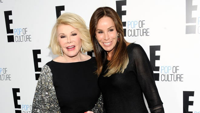 Melissa Rivers honored her mother Joan during a tribute at the Daytime Emmy Awards April 26.