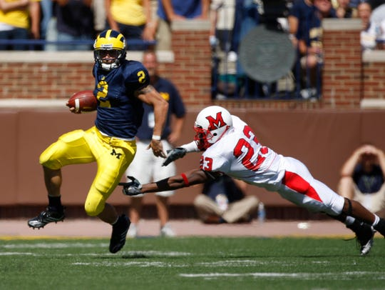 Sam McGuffie finished his Michigan career with 486