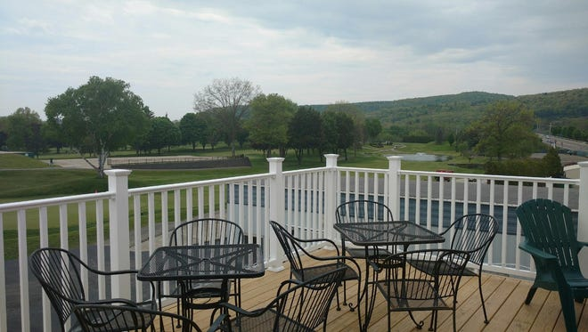 A new deck has opened at the En-Joie Golf Course restaurant.