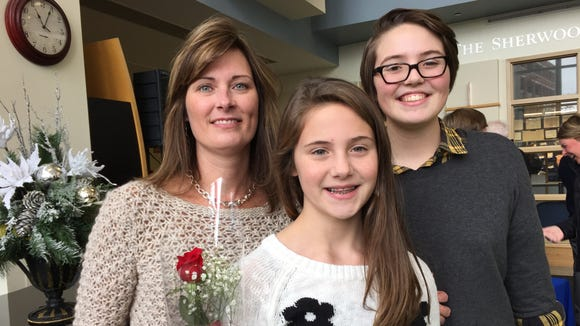 Mary Guyette and daughters Emma and Jenna.