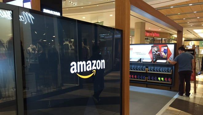 An Amazon popup store at the Westfield Mall in San Francisco on Nov. 2, 2014.