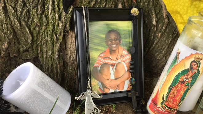 Friends and family created this memorial for Elmira shooting victim Jeremiyah Alford.