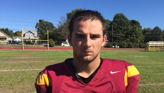 Haddon Heights junior Matt DiOrio completed 15-of-19 passes for 229 yards and two touchdowns in Saturday's win over Audubon.