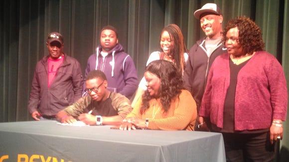 Reynolds senior Keyal Talbert has signed to play college